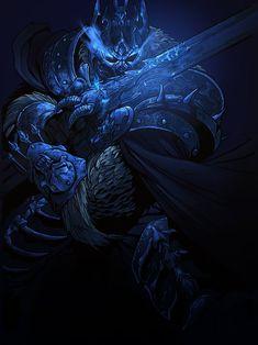 The Lich King from Warcraft! Pencils by Eddie Nunez. Inks by Justin Yang. Colours by Przemysław Slowinski