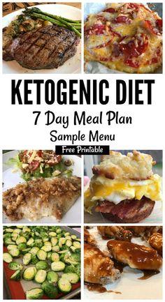 Keto Sample Menu Plan 7 Day Plan (free printable) via @isavea2z