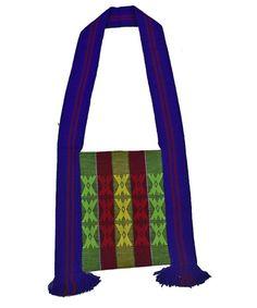Blue Hand woven Sling Bag