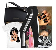 """""""Have you ever loved somebody so much you can't sleep at night"""" by fashionweeklyneeds ❤ liked on Polyvore featuring HUF, River Island, Givenchy, NIKE, Victoria's Secret and adidas Originals"""