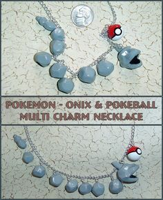 Pokemon - Onix Charm Necklace by *YellerCrakka