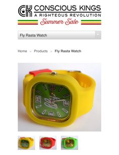 Rasta Watches at Consciouskings.com