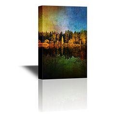 wall26 - Canvas Wall Art - Forest by the Lake with Reflec... https://www.amazon.com/dp/B01N1YIIU4/ref=cm_sw_r_pi_dp_x_9q7OybGJD0WCK