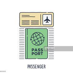 Vektorgrafik : Passport-und Flugtickets