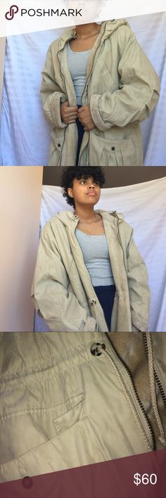 VTG tan winter coat this coat is v cute! sadly, it's unbranded. this reminds me of a similar coat that i have up for sale except this one is better for keeping you warm!! very soft inner lining. 2 inner pockets. vintage  Vintage Jackets & Coats