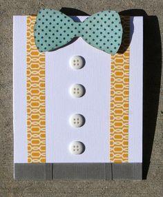 Easy handmade Father's Day Card. Cute washi tape idea for a handmade card.