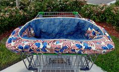 Dog Cart Cover Shopping Cart Cover for Dogs Quilted Denim