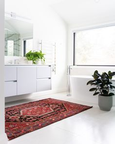 Whether you plan to remodel your powder room or a master bathroom, choose something from our list of modern bathroom vanities. They all provide maximum function and purpose but they also make a statement and present a major fashion element in a home. #modernbathroom #bathroomvanity #bathroomgoals #currentdesignsituation #bathroomcabinets #bathroomremodeling #vanitygoals #bathroomupdates #interiorstyling #bathroomvanitytops #homedecorideas #bathroomdesign #homedesignideas #interiorandhome Next Bathroom, Bathroom Layout, Modern Bathroom Design, White Bathroom, Bathroom Interior, Modern Design, Small Bathroom Renovations, Bathroom Trends, Bathroom Makeovers