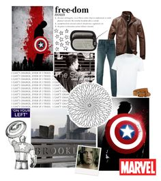 """I'm just a kid from Brooklyn"" by capfan2014 on Polyvore featuring Marvel, Yves Saint Laurent, Sebastian Professional, Neil Barrett, Bergè, men's fashion, menswear and FandomBattlesOne"