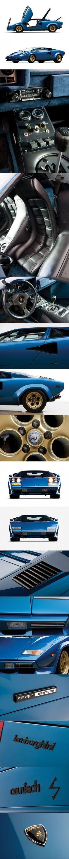 1978 Lamborghini Countach LP400S / Marcello Gandini @ Bertone / Italy / blue gold - https://www.luxury.guugles.com/1978-lamborghini-countach-lp400s-marcello-gandini-bertone-italy-blue-gold/