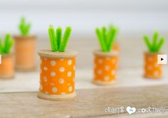 Washi tape spool carrots