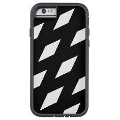 Black & White Lattice Design iPhone 6 Case