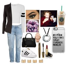 """Starbucks with ash"" by zoerichardson-1 ❤ liked on Polyvore featuring H&M, adidas, Glamorous, Alexandre Vauthier, Maison Margiela, MICHAEL Michael Kors, Gucci, L'Oréal Paris, Michael Kors and Casetify"