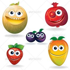 Funny Fruits D - Food Objects