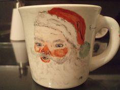 Vintage Estate Santa Mug 1959 by TonysTreasureChest on Etsy #Santa