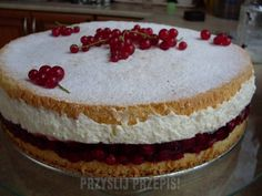 Kremówka z porzeczkami Cheesecake, Cakes, Baking, Cheese Cakes, Food Cakes, Bakken, Bread, Pastries, Backen