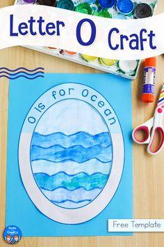 Preschool Letter Crafts, Alphabet Letter Crafts, Abc Crafts, Kindergarten Crafts, Daycare Crafts, Preschool Activities, Classroom Crafts, Animal Crafts, Classroom Ideas