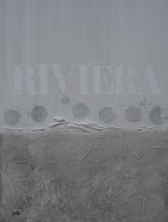 """Rivièra"" Acryl op doek, 60 x 80 x 4 cm www.tresjolique.nl/webshop"