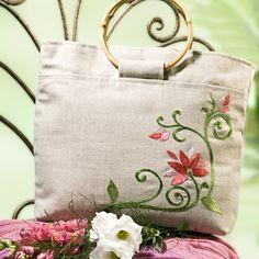 Bolsa bordado florida