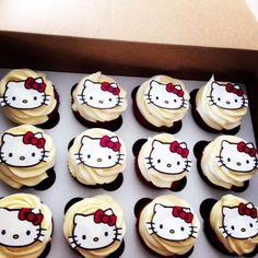 Red velvet Hello Kitty kupcakes