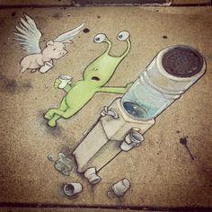 david+zinn+sidewalk+art | Sidewalk Art by David Zinn | Flickr - Photo Sharing!