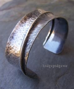 Opposites Attract Sterling  Fold Formed Silver Cuff Bracelet