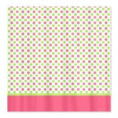 Green u0026 Pink Polka Dot Shower Curtain