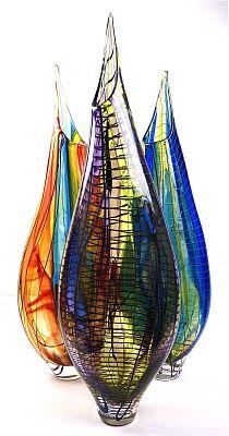 Beautiful blown glass at Bella Forte Glass Studio  http://bellaforte.blogspot.com/