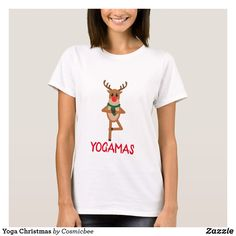 Shop Yoga Christmas T-Shirt created by Cosmicbee. Personalize it with photos & text or purchase as is! All I Want For Christmas, Great Christmas Gifts, First Christmas, Merry Christmas, Personalized Christmas Gifts, Funny Gifts, Gifts For Him, Yoga, T Shirt