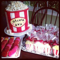 Movie Night popcorn cake