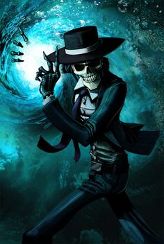 Skulduggery Pleasant – Mortal Coil because obviously everyone's biggest character crush at the age of 11 was a talking skeleton Skulduggery Pleasant, Twist Of Fate, Grim Reaper, Gothic Art, Book Worms, Good Books, Illustration, Skulls, Skeletons