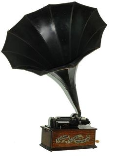An antique Edison Home model cylinder phonograph with it's original Home marked morning glory horn