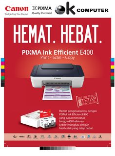 printer canon E400 print scan copy Catridge murah