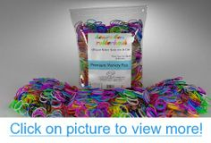 Loom Rubber Bands - 600 Loom Band Refill Rainbow Colors Variety Value Pack with 24 Loom Bands S Clips - 100% Compatible with All Looms