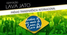 A força-tarefa da Operação Lava Jato, integrada por policiais federais, foi escolhida como a maior iniciativa contra a corrupção no mundo e recebeu o prêmio do ano da entidade Transparência Internacio ...
