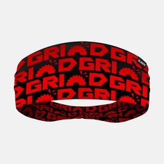 Grind Red Double-Side Wide Headband