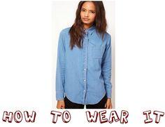 @asos.com denim shirt today on my blog: http://myvintagememoirs.blogspot.com.es/2013/10/how-to-wear-it-denim-shirt.html#more