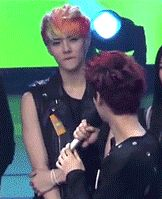 Luhan's torn between Xiumin and Sehun and Sehun's like giving him that face and Luhan's so confused and OMIGOD I FEEL U LUHAN. It's like picking a bias.