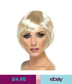 Fancy Dress Smiffys Short Blonde Glamour Babe Bob With Fringe Fancy Dress Wig #ebay #Fashion