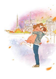 낙엽이 별똥별처럼 떨어지는 그 거리에서  너한테 사랑한다 고백하기-  Tags 사랑, 연인, 파리, 여행, 고백, 설레임, 행복, 커플, 차원