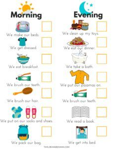 How To Get Out The Door On Time With A Toddler! - Taylor-made Mama - - 11 must-know hacks to get out the door on time with a toddler, including a printable PDF Toddler Routine Chart to help take the stress out of your mornings! Toddler Routine Chart, Daily Routine Chart For Kids, Toddler Chart, Morning Routine Chart, Morning Routine Kids, Toddler Schedule, Charts For Kids, Morning Routine Printable, Toddler Daily Routines