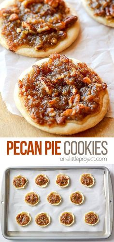 With all the deliciousness of pecan pie in a bite sized cookie, these are really SO easy to make and make a perfect treat for any pecan lover! Pecan Pie Cookies, Cookie Pie, Cookie Recipes, Dessert Recipes, Desserts, Mini Pecan Pies, Bite Size Cookies, Treats, Snacks