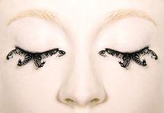 false paper eyelashes