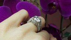 Lovely antique style ring by David Klass Jewelry.