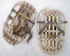 A snow shoe is a type of footwear designed essentially for walking or performing other sporting activities on snow. Read more information - http://cleversurvivalist.com/2013/12/16/how-to-make-your-own-emergency-homemade-snowshoes-for-survival/