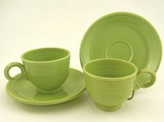 Fiestaware Color: Chartreuse (1951-1959). I would partner it with tangerine dishes.