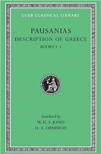 Pausanias: Description of Greece, Volume II, Books 3-5 (Laconia, Messenia, Elis 1) (Loeb Classical Library No. 188) by Pausanias. $24.00. Publisher: Loeb Classical Library (January 1, 1926). 560 pages. Publication: January 1, 1926