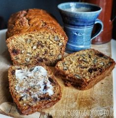 Oat, date & pecan breakfast loaf by How to cook good food