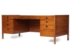 Rosewood Desk by Edward Wormley | From a unique collection of antique and modern desks and writing tables at http://www.1stdibs.com/furniture/tables/desks-writing-tables/