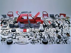 Disassembled VW Golf, 1988. Commissioned by Volkswagen Company. Art Director…